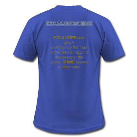 es royal blue THE OFFICIAL EXCALIBER SHINE T SHIRT
